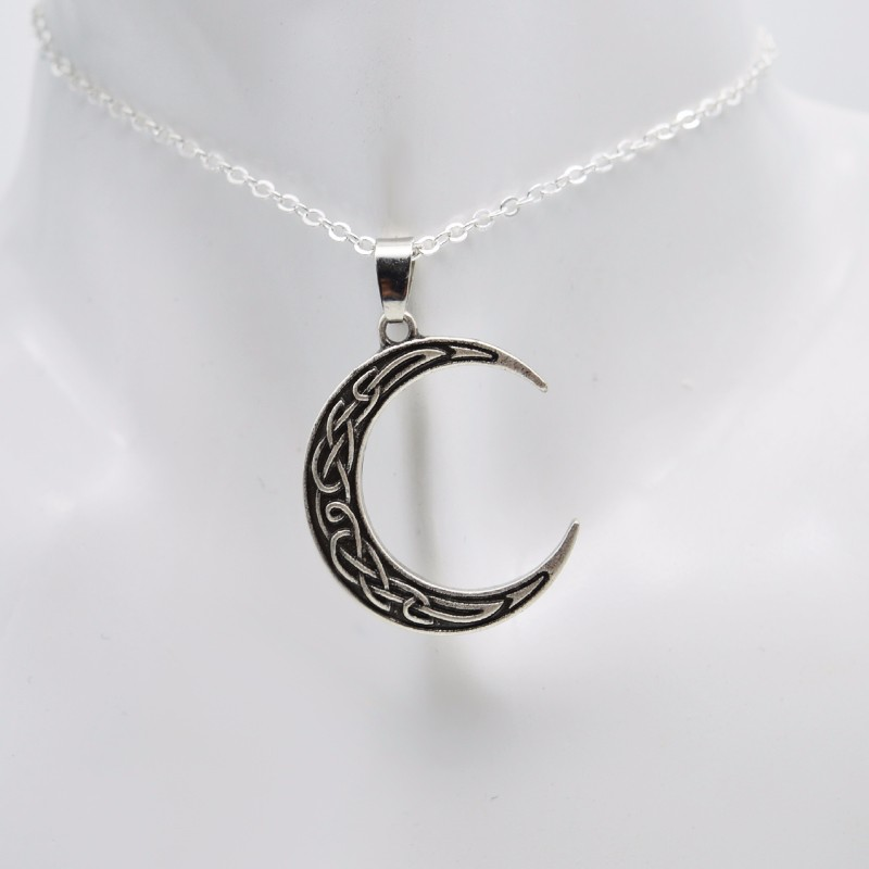 My celtic soul crescent moon pendant rediscovering danu crescent moon pendant irish mozeypictures Choice Image