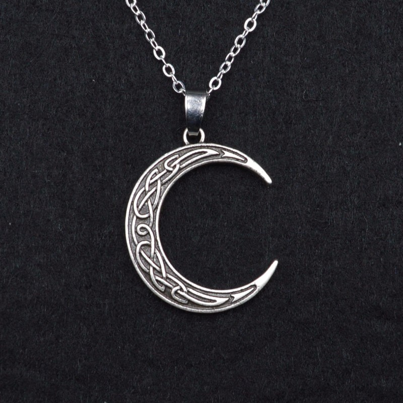 My celtic soul crescent moon pendant rediscovering danu crescent moon celtic pendant aloadofball Image collections