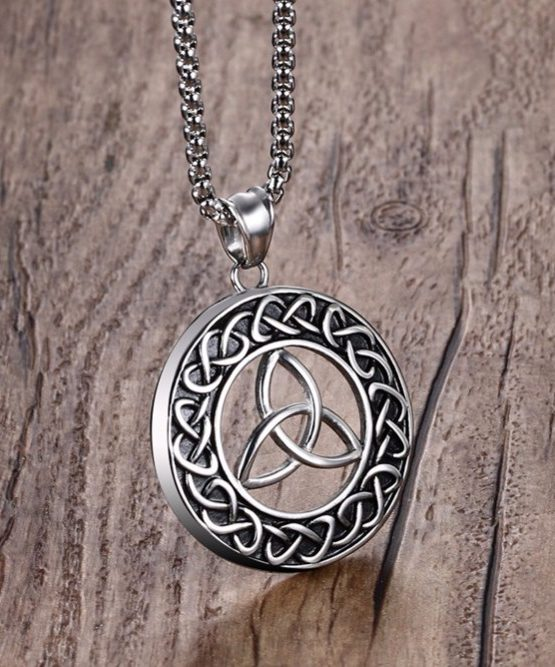 Infinite protection trinity knot pendant in stainless steel celtic trinity knot pendant mozeypictures Gallery