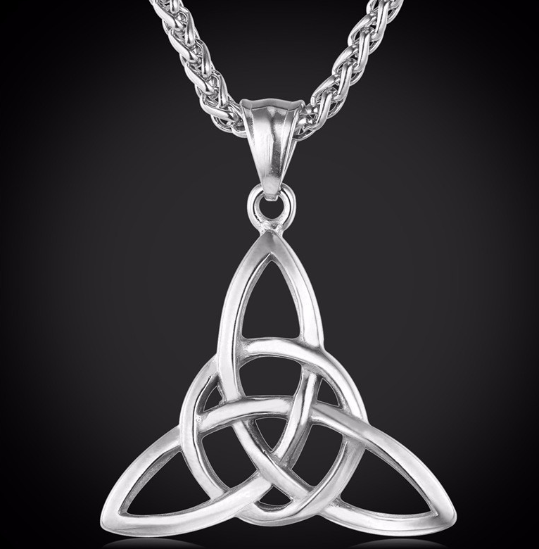 Unity without end trinity knot pendant stainless steel unity without end trinity knot pendant stainless steel aloadofball Images